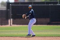 San Diego Padres shortstop Ruddy Giron (2) during an Extended Spring Training game against the Colorado Rockies at Peoria Sports Complex on March 30, 2018 in Peoria, Arizona. (Zachary Lucy/Four Seam Images)