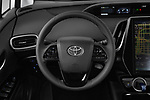 Car pictures of steering wheel view of a 2020 Toyota Prius-Prime XLE 5 Door Hatchback
