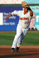 Brooklyn Cyclones infielder J.B. Brown (22) during game against the Staten Island Yankees at MCU Park in Brooklyn, NY June 19, 2010. Cyclones won 9-6.  Photo By Tomasso DeRosa/Four Seam Images
