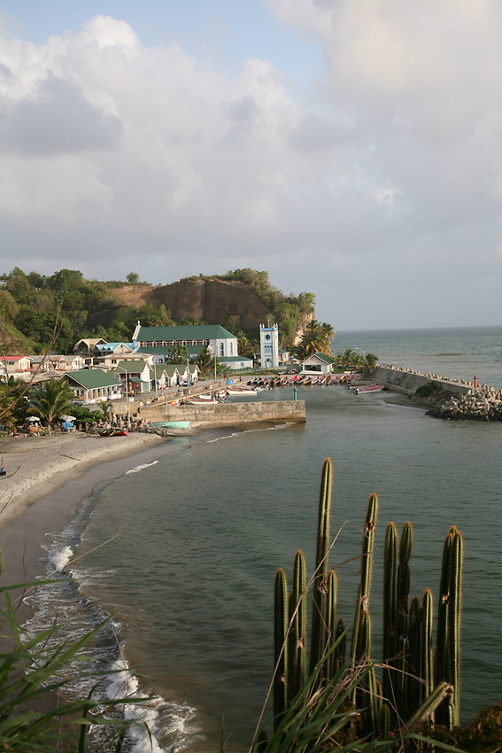 Overlook of the fishing village of Choiseul