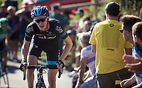 Ian Boswell (USA/SKY) at the 20% gradient on the final climb towards the finish<br /> <br /> stage 16: Luarca - Ermita de Alba<br /> 2015 Vuelta à Espagna