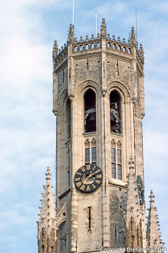 Bruges: Belfry of Halles.  Photo '87.