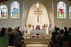 Jan. 24, 2011; University President Rev. John Jenkins, C.S.C. concelebrates a Mass at St. Agnes Church in Arlington, Virginia before the 2011 March for Life...Photo by Matt Cashore/University of Notre Dame