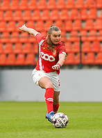 Standard's Davinia Vanmechelen in action during a female soccer game between Standard Femina de Liege and KRC Genk Ladies  on the third matchday of the 2020 - 2021 season of Belgian Womens Super League , Saturday 3 rd of October 2020  in Liege , Belgium . PHOTO SPORTPIX.BE   SPP   SEVIL OKTEM