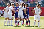 (L-R) Saki Kumagai, Yuki Ogimi, Mizuho Sakaguchi, Azusa Iwashimizu (JPN), <br /> JULY 1, 2015 - Football / Soccer : FIFA Women's World Cup Canada 2015 Semir-final match between Japan 2-1 England at Commonwealth Stadium in Edmonton, Canada. (Photo by Yusuke Nakanishi/AFLO SPORT)