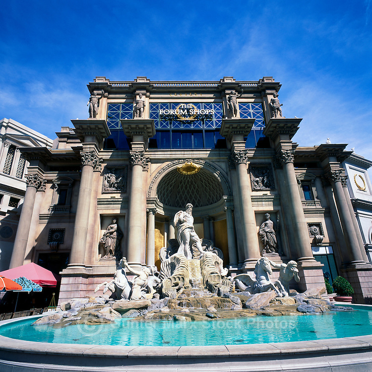 Las Vegas, Nevada, USA - Caesars Palace along The Strip (Las Vegas Boulevard) - Fountain outside the Forum Shops Entrance