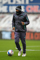 3rd October 2020; Liberty Stadium, Swansea, Glamorgan, Wales; English Football League Championship, Swansea City versus Millwall; Andre Ayew of Swansea City during the warm up