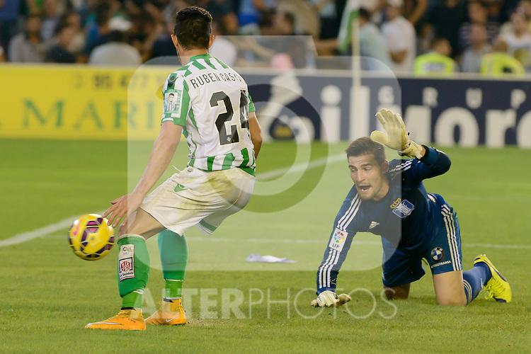 match between Real Betis and Recreativo de Huelva day 10 of the spanish Adelante League 2014-2015 014-2015 played at the Benito Villamarin stadium of Seville. (PHOTO: CARLOS BOUZA / BOUZA PRESS / ALTER PHOTOS)