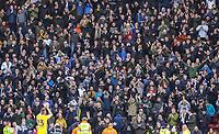 Leeds United fans celebrate the late equaliser with Kalvin Phillips<br /> <br /> Photographer Alex Dodd/CameraSport<br /> <br /> The EFL Sky Bet Championship - Middlesbrough v Leeds United - Saturday 9th February 2019 - Riverside Stadium - Middlesbrough<br /> <br /> World Copyright © 2019 CameraSport. All rights reserved. 43 Linden Ave. Countesthorpe. Leicester. England. LE8 5PG - Tel: +44 (0) 116 277 4147 - admin@camerasport.com - www.camerasport.com