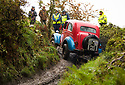 06/10/18<br /> <br /> Dick Bolt & Jack Selwood, Ford Popular.<br /> <br /> After battling hours of heavy rain, competitors slither up a hill known as the corkscrew in near Kettleshulme in the Cheshire Peak District National Park. Hundreds of other cars and motorcycles took part in today's Edinburgh Trial. The Motorcyling Club's 94th annual long distance navigation trial started near Tamworth at midnight and finishes this afternoon near Buxton. The original trial ran from London to Edinburgh.<br /> <br /> All Rights Reserved: F Stop Press Ltd. +44(0)1335 344240  www.fstoppress.com www.rkpphotography.co.uk