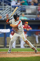 Aberdeen Ironbirds third baseman Collin Woody (48) at bat during a game against the Batavia Muckdogs on July 14, 2016 at Dwyer Stadium in Batavia, New York.  Aberdeen defeated Batavia 8-2. (Mike Janes/Four Seam Images)