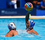 Alexandros  Evgenios Gounas in action during game between Turkey versus  Greece LEN European Water Polo Championships, Barcelona 16.07.2018