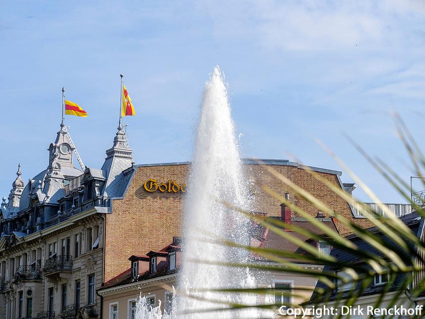 Brunnen, Baden-Baden, Baden-Württemberg, Deutschland, Europa<br /> fountain, Baden-Baden, Baden-Wuerttemberg, Germany, Europe