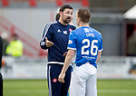 Hamilton Accies v St Johnstone…01.04.17     SPFL    New Douglas Park<br />Martin Canning and Liam Craig have words at full time<br />Picture by Graeme Hart.<br />Copyright Perthshire Picture Agency<br />Tel: 01738 623350  Mobile: 07990 594431