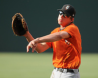Infielder Luke Anders (35) of the Augusta GreenJackets, Class A affiliate of the San Francisco Giants, in a game against the Greenville Drive on May 20, 2010, at Fluor Field at the West End in Greenville, S.C. Photo by: Tom Priddy/Four Seam Images