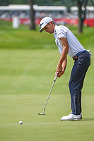 4th July 2021, Detroit, MI, USA;  Will Zalatoris (USA) watches his birdie attempt on 18 during the Rocket Mortgage Classic Rd4 at Detroit Golf Club on July 4,