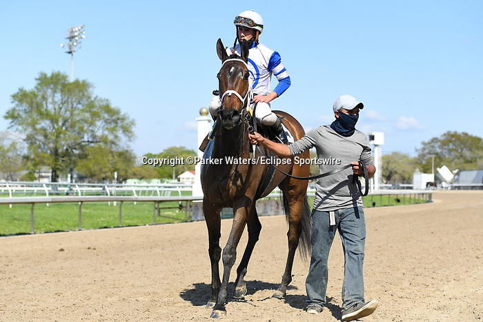 March 20, 2021: Summer in Saratoga wins the Tom Benson Memorial Stakes during Louisiana Derby Day at Fair Grounds Race Course in New Orleans, Louisiana. Parker Waters/Eclipse Sportswire/CSM