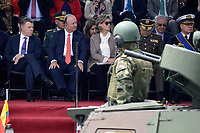 BOGOTÁ - COLOMBIA, 20-07-2018: Presidente de Colombia Juan Manuel Santos y los altos mandos de las fuerzas militares durante el desfile Militar del 20 de Julio con motivo del 208 Aniversario de la Independencia de Colombia realizado por las calles de la ciudad de Bogotá. / President of Colombia Juan Manuel Santos and the high command of the military forces during July 20th Military Parade on the occasion of the 208th Anniversary Independence of Colombia that took place trough the streets of Bogota city. Photo: VizzorImage / Diego Cuevas / Cont