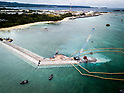 Construction site of new U.S. airbase in Henoko district in Nago, Okinawa