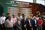 SHA TIN,HONG KONG-APRIL 28: The connections of Chariman's Sprint Priza at Champions Mile/Chairman's Sprint Prize Barrier Draw at Sha Tin Racecourse on April 28,2016 in Sha Tin,New Territories,Hong Kong (Photo by Kaz Ishida/Eclipse Sportswire/Getty Images)