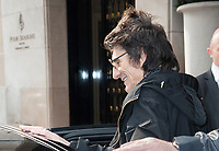 October 18 2017, PARIS FRANCE Ron Wood<br /> Guitarist of the Rolling Stones leaves the Georges V Hotel on Avenue Georges V. # LES ROLLING STONES FONT DU SHOPPING A PARIS