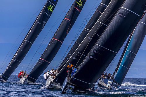 Racing started in a 6 knots and built to 12 over the afternoon Photo: Martinez/RC44