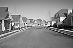 Suburban neighborhood. New construction.