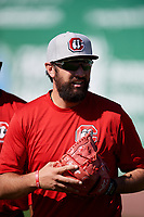 Chattanooga Lookouts pitcher Todd Van Steensel (23) before a game against the Jackson Generals on April 27, 2017 at The Ballpark at Jackson in Jackson, Tennessee.  Chattanooga defeated Jackson 5-4.  (Mike Janes/Four Seam Images)