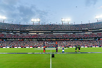NASHVILLE, TN - SEPTEMBER 5: CHAMP stands on the field during a game between Canada and USMNT at Nissan Stadium on September 5, 2021 in Nashville, Tennessee.