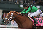 October 03, 2014: Work All Week and jockey Florent Geroux win the 162nd running of the Stoll Keenon Ogen Phoenix Grade 3 Win and Your In Sprint Division at Keeneland Racecourse for owner Midwest Thoroughbreds and trainer Roger Brueggemann.    Candice Chavez/ESW/CSM