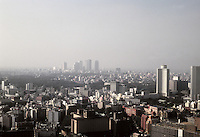 Tokyo: Panorama--Looking southwest to distant Shibuya. Photo '81.