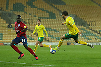 6th April 2021; Carrow Road, Norwich, Norfolk, England, English Football League Championship Football, Norwich versus Huddersfield Town; Emi Buendia of Norwich City with the assist for Kieran Dowell goal for 5-0
