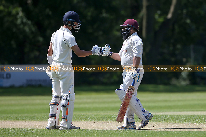 Robin Das and Adnan Akram of Wanstead during Wanstead and Snaresbrook CC vs Harold Wood CC, Hamro Foundation Essex League Cricket at Overton Drive on 17th July 2021
