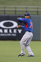 Shamil Ubiera #78 of the AZL Cubs during a game against the AZL Rangers at Surprise Stadium on July 6, 2014 in Surprise, Arizona. AZL Rangers defeated the AZL Cubs, 7-5. (Larry Goren/Four Seam Images)