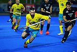 Australia's Trent Mitton in action during the Sentinel Homes Trans Tasman Series hockey match between the New Zealand Black Sticks Men and the Australian Kookaburras at Massey University Hockey Turf in Palmerston North, New Zealand on Tuesday, 1 June 2021. Photo: Dave Lintott / lintottphoto.co.nz