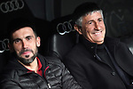 FC Barcelona's coach Quique Setien (r) with his second Eder Sarabia during La Liga match. March 1,2020. (ALTERPHOTOS/Acero)