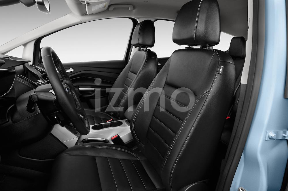 2013 Ford C Max Hybrid SEL Mini MPV Front Seat Stock Photo