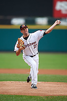 Rochester Red Wings pitcher Pat Dean (21) delivers a pitch during a game against the Pawtucket Red Sox on July 1, 2015 at Frontier Field in Rochester, New York.  Rochester defeated Pawtucket 8-4.  (Mike Janes/Four Seam Images)