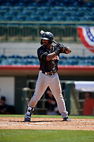 Jupiter Hammerheads Isael Soto (15) at bat during a Florida State League game against the Florida Fire Frogs on April 11, 2019 at Osceola County Stadium in Kissimmee, Florida.  Jupiter defeated Florida 2-0.  (Mike Janes/Four Seam Images)