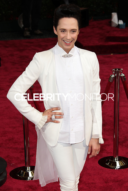 HOLLYWOOD, LOS ANGELES, CA, USA - MARCH 02: Johnny Weir at the 86th Annual Academy Awards held at Dolby Theatre on March 2, 2014 in Hollywood, Los Angeles, California, United States. (Photo by Xavier Collin/Celebrity Monitor)