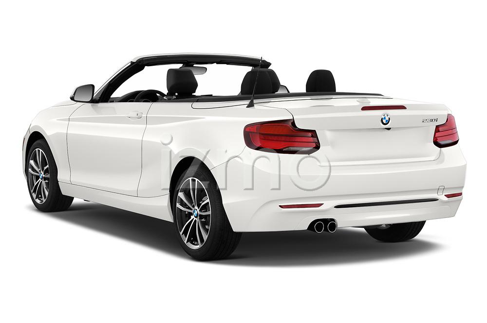 Rear three quarter view of a 2019 BMW 2 Series 230i Sport Line 2 Door Convertible angular rear