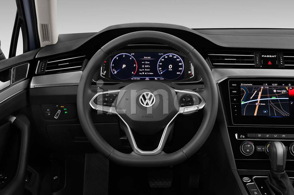 Car pictures of steering wheel view of a 2020 Volkswagen Passat Style Business 4 Door Sedan