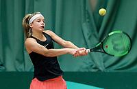 Wateringen, The Netherlands, March 16, 2018,  De Rhijenhof , NOJK 14/18 years, Nat. Junior Tennis Champ.  Anouck Vrancken Peeters (NED)<br />  Photo: www.tennisimages.com/Henk Koster