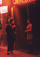 A man approaches a prostitute in Beijing. As the gender inbalance grows more and more men are using prostitutes and sex aids, doubtful that they ever find a wife.