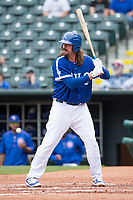 Jack Murphy (50) of the Oklahoma City Dodgers at bat during a game against the Iowa Cubs at Chickasaw Bricktown Ballpark on April 9, 2016 in Oklahoma City, Oklahoma.  Oklahoma City defeated Iowa 12-1 (William Purnell/Four Seam Images)