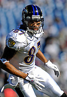 21 October 2007: Baltimore Ravens wide receiver Demetrius Williams warms up prior to a game against the Buffalo Bills at Ralph Wilson Stadium in Orchard Park, NY. The Bills defeated the Ravens 19-14 in front of 70,727 fans marking their second win of the 2007 season...Mandatory Photo Credit: Ed Wolfstein Photo