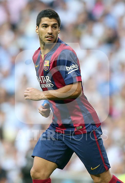 FC Barcelona's Luis Suarez during La Liga match.October 25,2014. (ALTERPHOTOS/Acero)