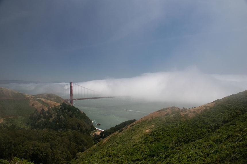 Fog Over the Golden Gate, Marin Headlands, California, US