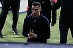 Juventus' player Cristiano Ronaldo visits the field before UEFA Champions League match between Atletico de Madrid and Juventus at Wanda Metropolitano Stadium in Madrid, Spain. February 19, 2019. (ALTERPHOTOS/A. Perez Meca)