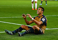 Alexis Sanchez of Arsenal shows a look of frustration after a missed chance during the Barclays Premier League match between Swansea City and Arsenal played at The Liberty Stadium, Swansea on October 31st 2015